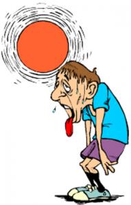 person in the sun